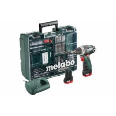 Дрель-шуруповерт аккумуляторная Metabo PowerMaxx BS Basic Mobile Workshop NEW (600080880)