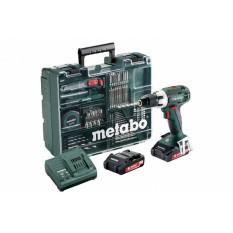 Дрель-шуруповерт аккумуляторная Metabo BS 18 LT Set Mobile Workshop (602102600)