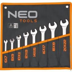 Набор рожковых двухсторонних ключей 8 ед. Neo Tools 09-851
