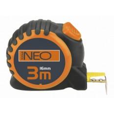 Рулетка с нейлоновой лентой Neo Tools 3 м х 16 мм 67-163