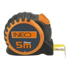 Рулетка с нейлоновой лентой Neo Tools 5 м х 25 мм 67-165