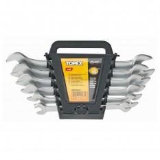 Ключи рожковые двухсторонние, сталь CrV, 6 ед. Topex 35D655