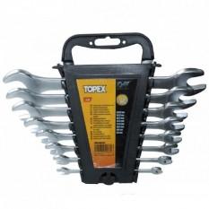 Ключи рожковые двухсторонние, сталь CrV, 8 пр. Topex 35D656
