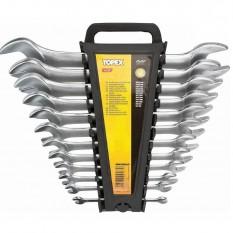 Ключи рожковые двухсторонние, сталь CrV, 12 пр Topex 35D657