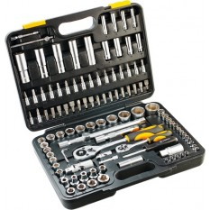 Набор сменных головок с трещотками и ключями 108 ед. Topex 38D644