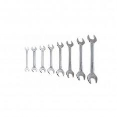 Ключи гаечные прямые с открытым зевом 8 пр. Top Tools 35D256