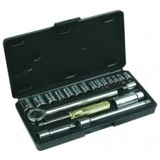 Набор торцевых головок и ключей 20 ед. Top Tools 38D257