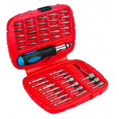 Отвертка со сменными наконечниками 45 шт Top Tools 39D354