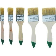 Кисти малярные плоские, набор 5 шт Top Tools 19B535