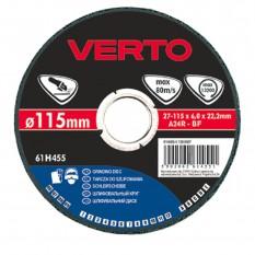 Диск шлифовальный Verto 125 x 6.0 x 22.2 мм 61H465
