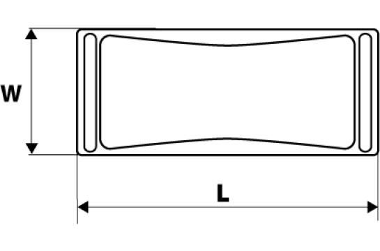 Блок шлифовальный с металлическими зажимами Topex 08A108