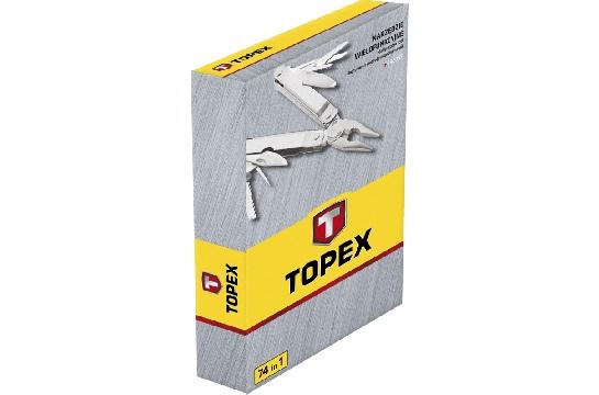 Инструмент универсальный с насадками 74шт Topex 98Z055