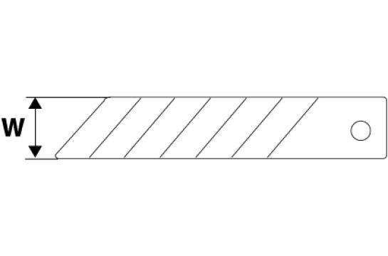Лезвия сменные W-9мм 10 шт Topex 17B349