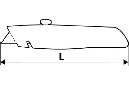 Нож с трапециевидным лезвием 6 лезвий Topex 17B172