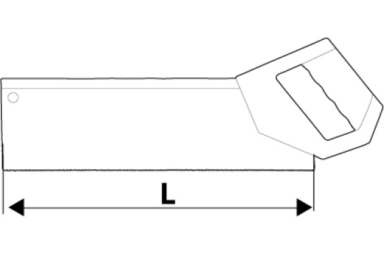 Ножовка для стусла 9TPI Topex 10A703