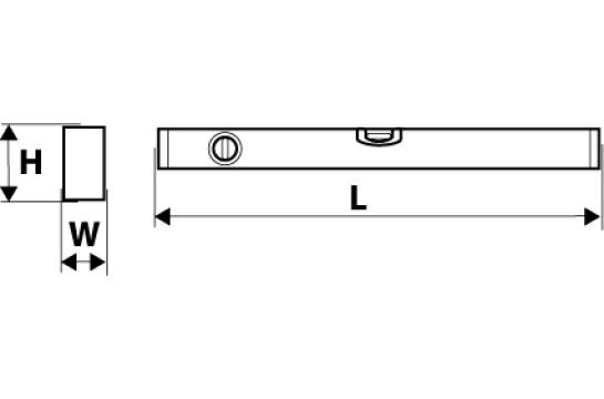 Правило строительное трапецивидное 2 глазика 100 см Topex 29C152